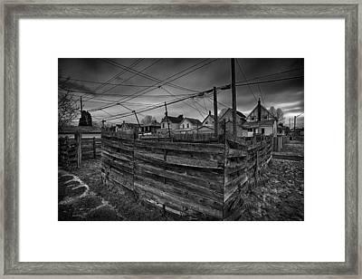 Fenced In Framed Print