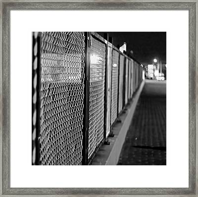 Fenced In Or Fenced Out Framed Print