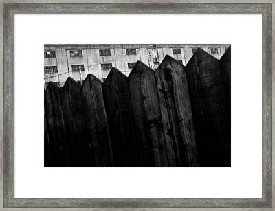 Framed Print featuring the photograph Fenced In Or Out by Jez C Self
