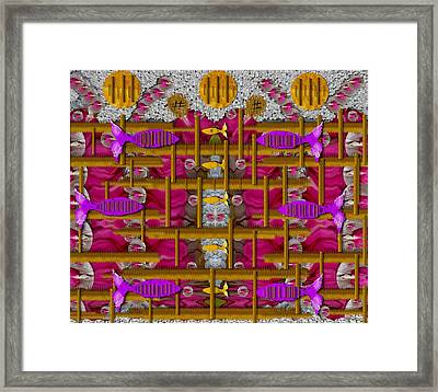 Fences Around Love In Oriental Style Framed Print