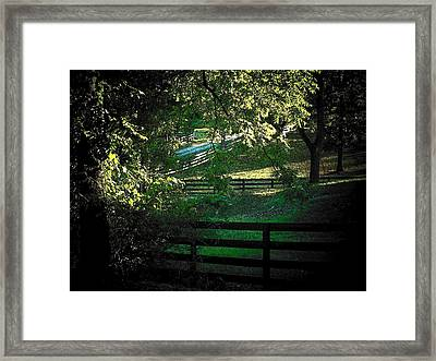 Fences On The Farm Framed Print by Joyce Kimble Smith