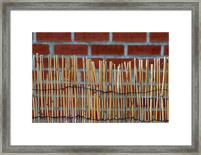Fencing In The Wall Framed Print