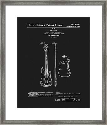 Fender Bass Guitar Patent Framed Print