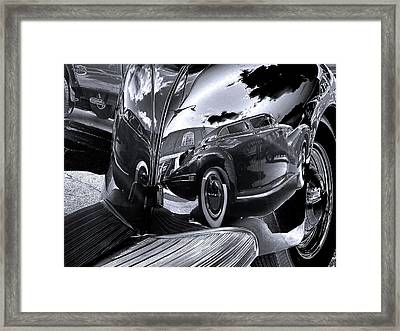 Fender Bender Framed Print by Sue Stefanowicz