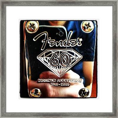 Fender Diamond Anniversary  Framed Print