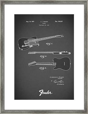 Fender Guitar 1951 Framed Print by Mark Rogan
