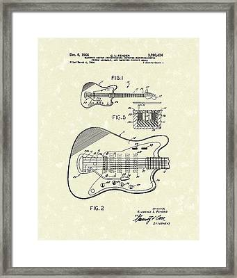 Fender Guitar 1966 Patent Art Framed Print