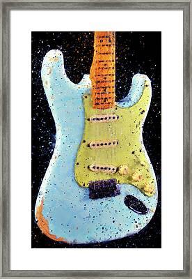 Fender Stratocaster - 02 Framed Print by Andrea Mazzocchetti