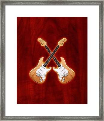 Fender Stratocaster Natural Color Framed Print