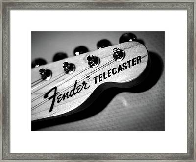Fender Telecaster Framed Print by Mark Rogan