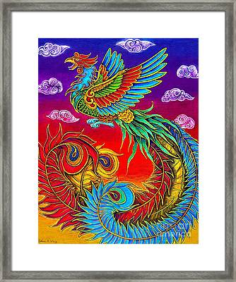 Fenghuang Chinese Phoenix Framed Print