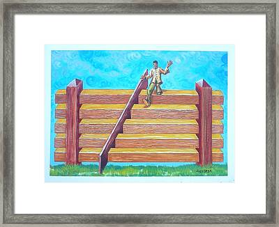 Fenstairs Framed Print by Joe Santana