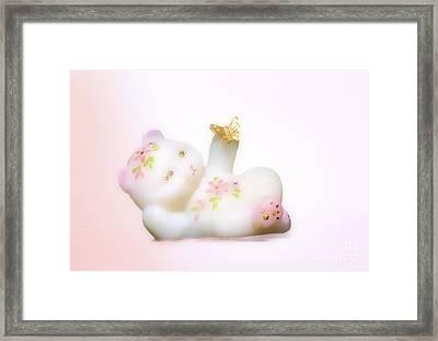 Fenton Art Glass Bear Framed Print