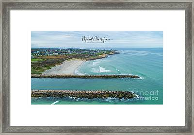 Fenway Beach, Weekapaug Framed Print