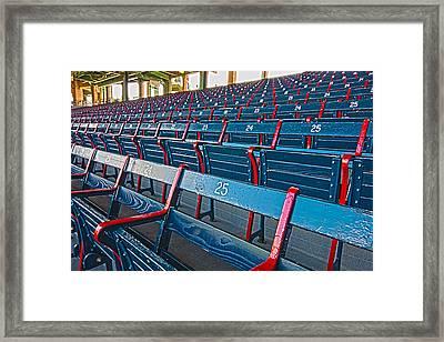Fenway Bleachers Framed Print