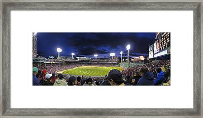 Fenway Night Framed Print by Rick Berk