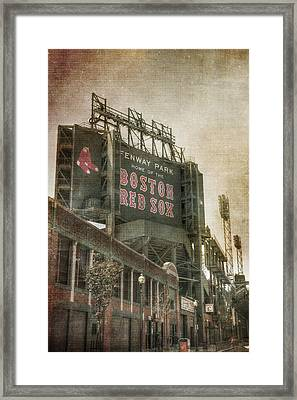 Fenway Park Billboard - Boston Red Sox Framed Print by Joann Vitali