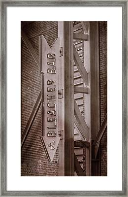 Fenway Park Bleacher Bar - #4 Framed Print