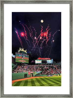Fenway Park Fireworks - Boston Framed Print