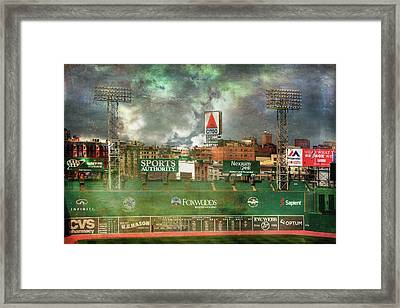 Fenway Park Green Monster And Citgo Sign Framed Print
