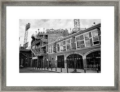 Fenway Park Home Of The Boston Redsox Gate E Lansdowne Street Usa Framed Print