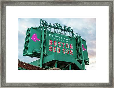 Fenway Park - Home Of The Red Sox Framed Print