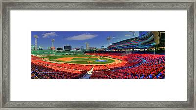 Fenway Park Interior Panoramic - Boston Framed Print