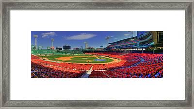 Fenway Park Interior Panoramic - Boston Framed Print by Joann Vitali