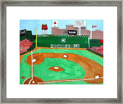 Fenway Park Framed Print by Jeff Caturano