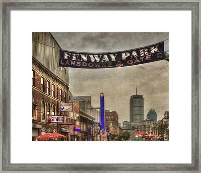 Fenway Park Lansdowne Street Framed Print