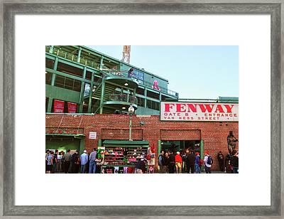 Fenway Park Framed Print by Mitch Cat