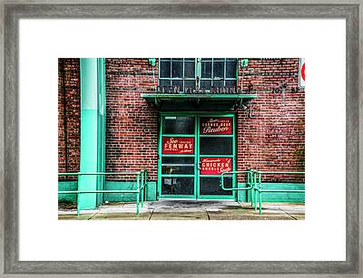 Fenway Park - The Bleacher Bar Framed Print by Bill Cannon