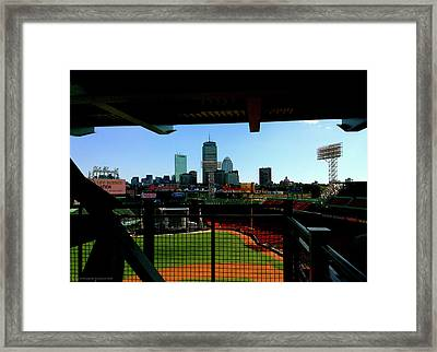 Framed Print featuring the photograph Fenway Park, Xi  by Iconic Images Art Gallery David Pucciarelli
