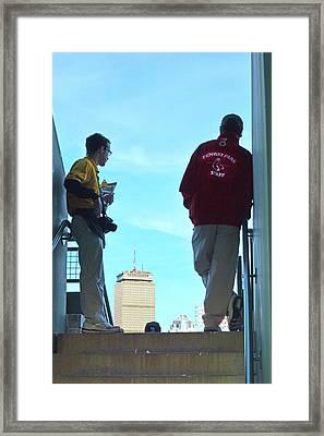 Fenway Staff At Watch Framed Print