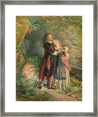 Ferdinand And Miranda From The Tempest Framed Print