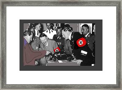 Ferdinand Porsche Showing The Prototype Of The Vw Beetle To Adolf Hitler 1935-2015 Framed Print