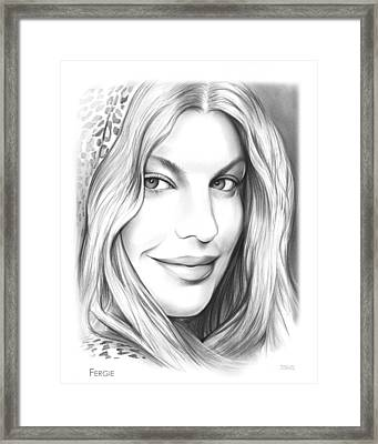 Fergie Framed Print by Greg Joens