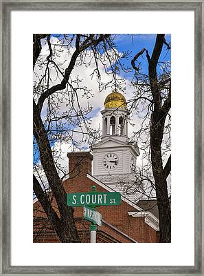 Fergus Falls City Hall Framed Print by Betsy Armour