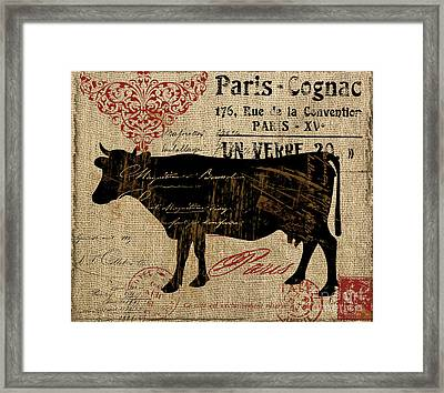 Ferme Farm Cow Framed Print