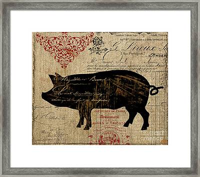 Ferme Farm Piglet Framed Print by Mindy Sommers