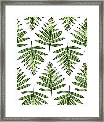 Fern Array Framed Print