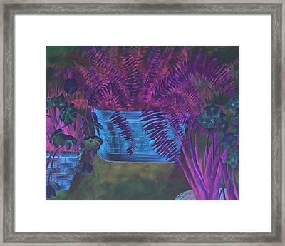 Fern Basket Framed Print
