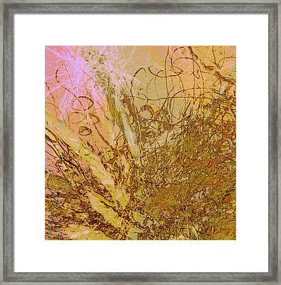 Fern Series 32 Bubbles Rise Framed Print