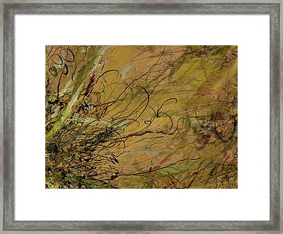 Fern Series Ping To Gray Tendril Detail Framed Print
