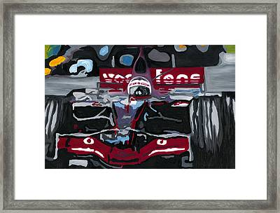 Fernando Alonso Wins Monaco For Mclaren 2008 Framed Print