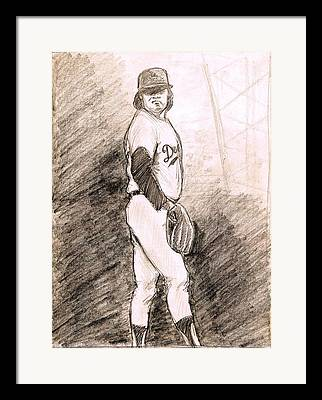 Cy Young Drawings Framed Prints