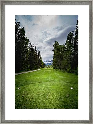 Framed Print featuring the photograph Fernie Tee Box by Darcy Michaelchuk