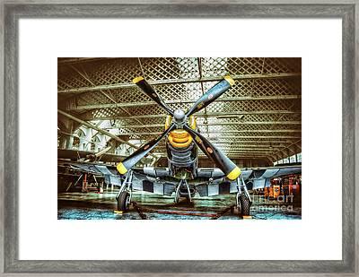 Ferocious Frankie Hangar Framed Print by Nigel Bangert