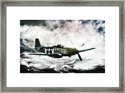 Ferocious Textured Framed Print by Peter Chilelli