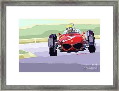 Ferrari 156 Dino 1962 Dutch Gp Framed Print